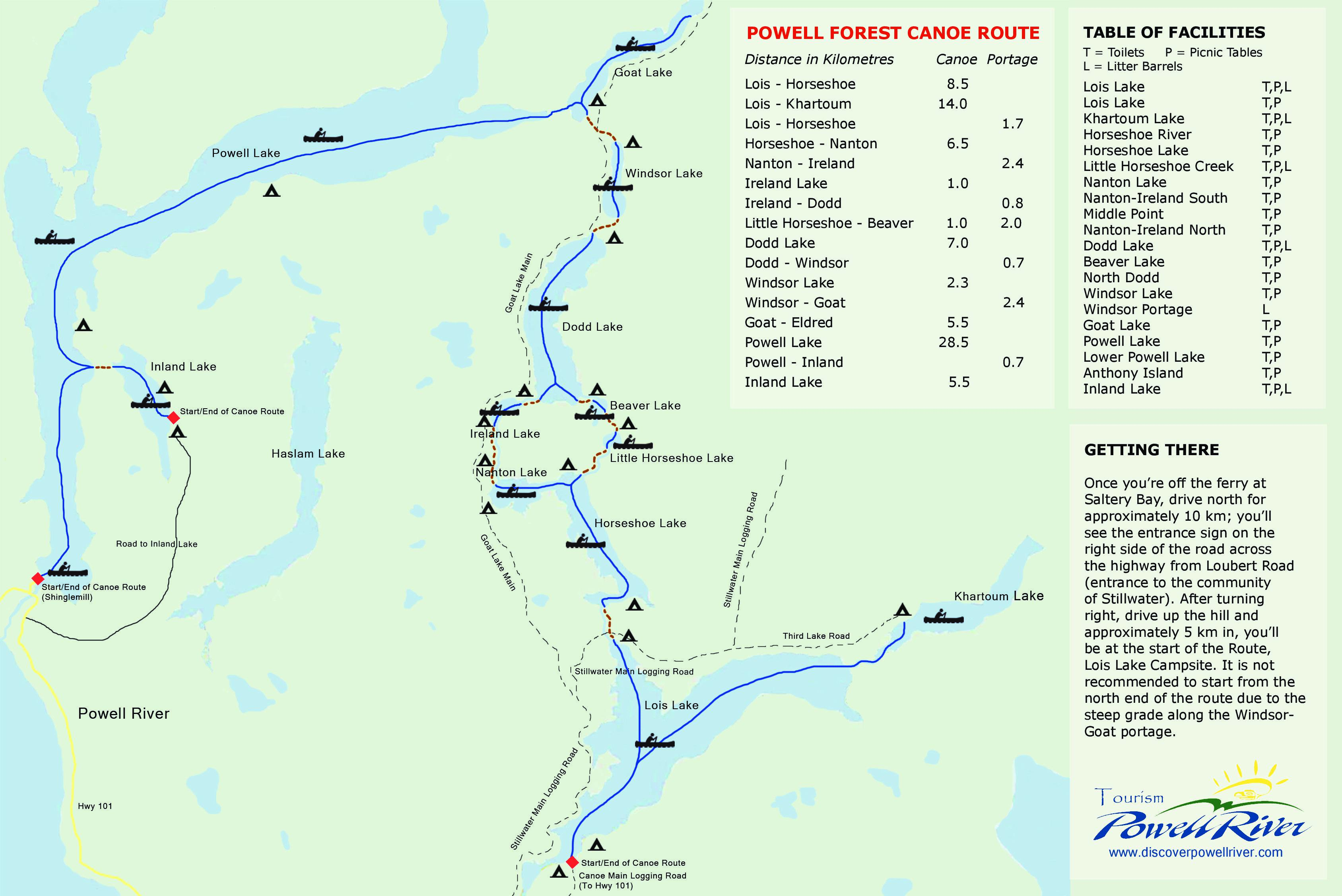 Explore the Trails - Powell River Forest Canoe Route - Sunshine ...